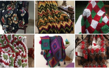 Coolest Design Patterns Of Crochet Blanket And Afghan//Crochet Blanket Ideas