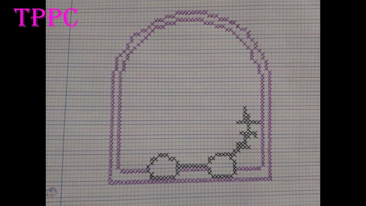 Creando Hello Kitty en ventana   Creando Patrones en directo punto de cruz