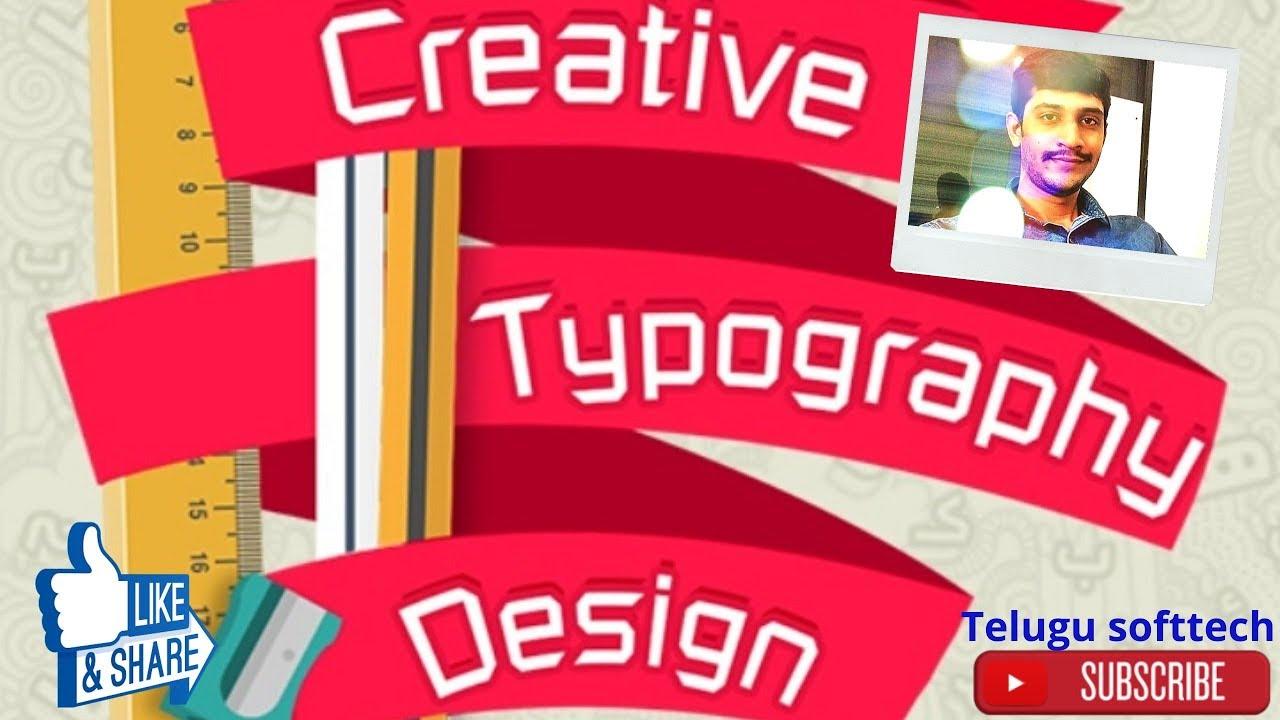 Creative Typography Design II Best image editing App II Word Art