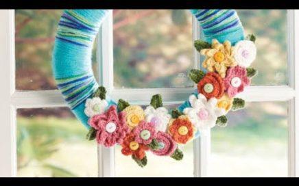 Crochet April Showers Spring Wreath