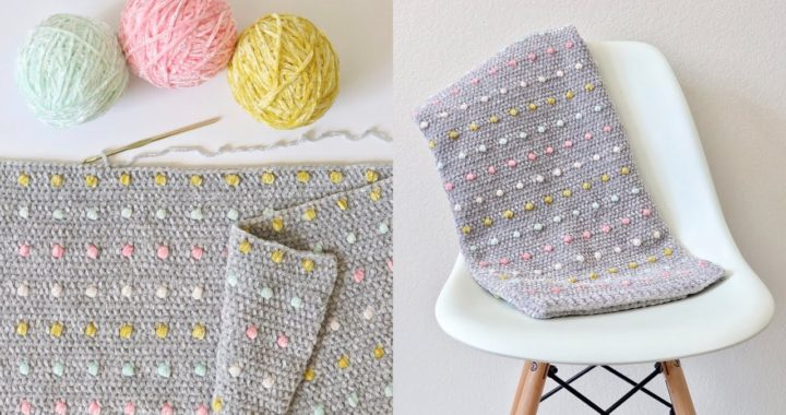 Crochet Candy Dots Baby Blanket