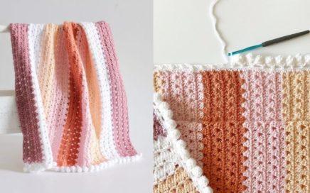 Crochet Modern Boho Granny Blanket Tutorial
