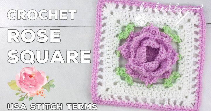 Crochet Rose Square 🌹 | Unicorn Dreams Blanket CAL | Crochet Square Tutorial