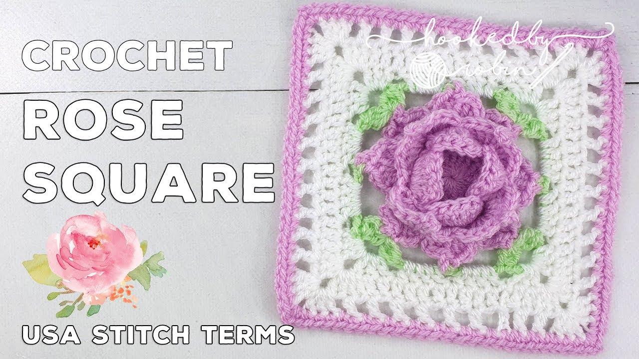 Crochet Rose Square 🌹 | Unicorn Dreams Blanket CAL | Crochet Square Tutorial