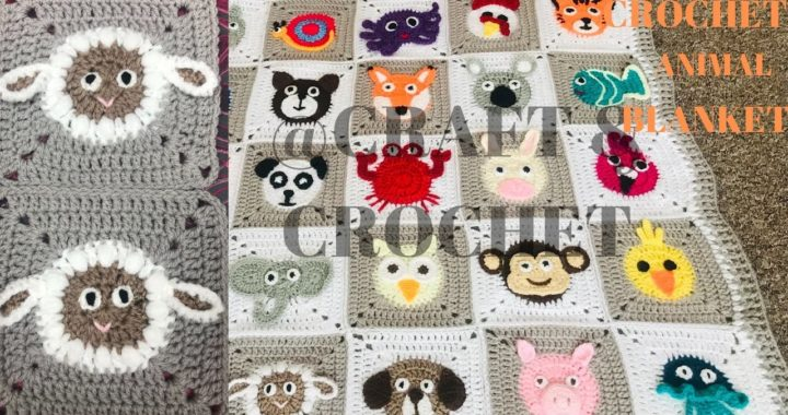 Crochet Sheep/Crochet Lamb/Crochet Blanket Pattern/ Crochet animal blanket/Part:23