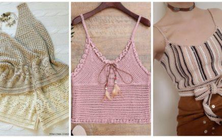 Crochet Tank tops/cropped tops for spring/Summer season