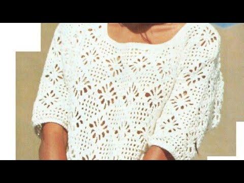 Crochet pattern for tunic - Häkelanleitung für Tunika - ปแบบการถักสำหรับเสื้อ
