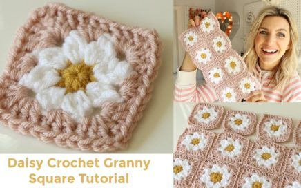 Daisy Granny Square Crochet Tutorial