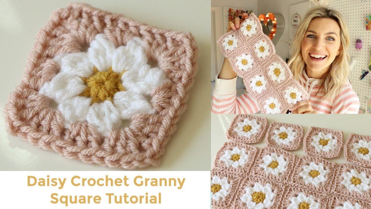 Daisy Granny Square Crochet Tutorial