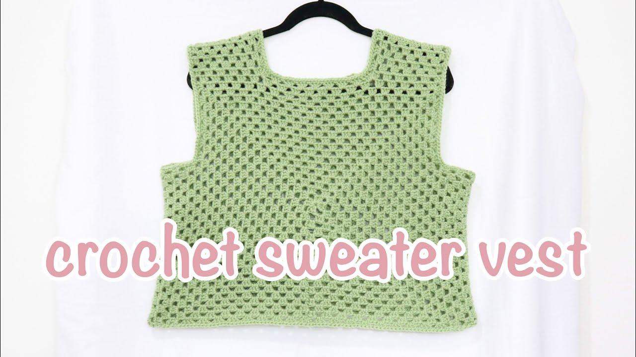 EASY Crochet Sweater Vest Tutorial | DIY Crochet Granny Square Vest