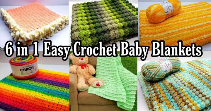 Easy Crochet Baby Blanket   6 in 1 Easy Baby Blanket Pattern   Bag O Day Crochet Tutorial