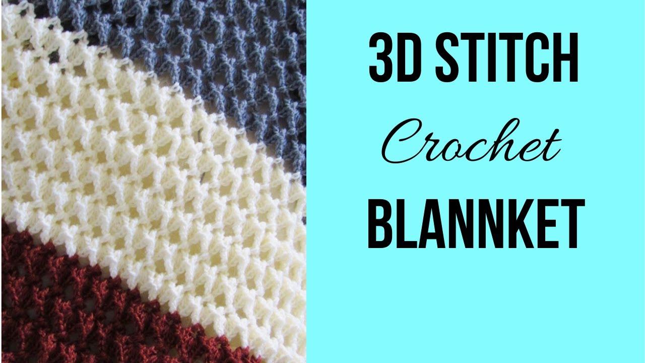 Easy Crochet Blanket (Textured)