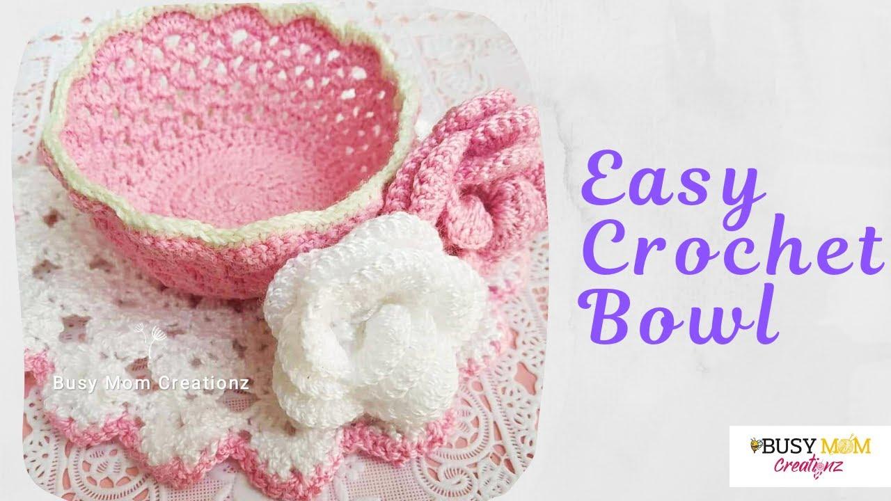 Easy Crochet Bowl