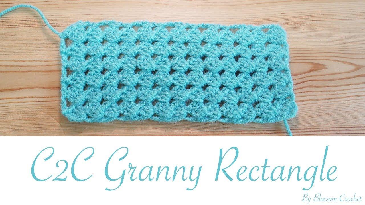 Easy Crochet: C2C Granny Rectangle