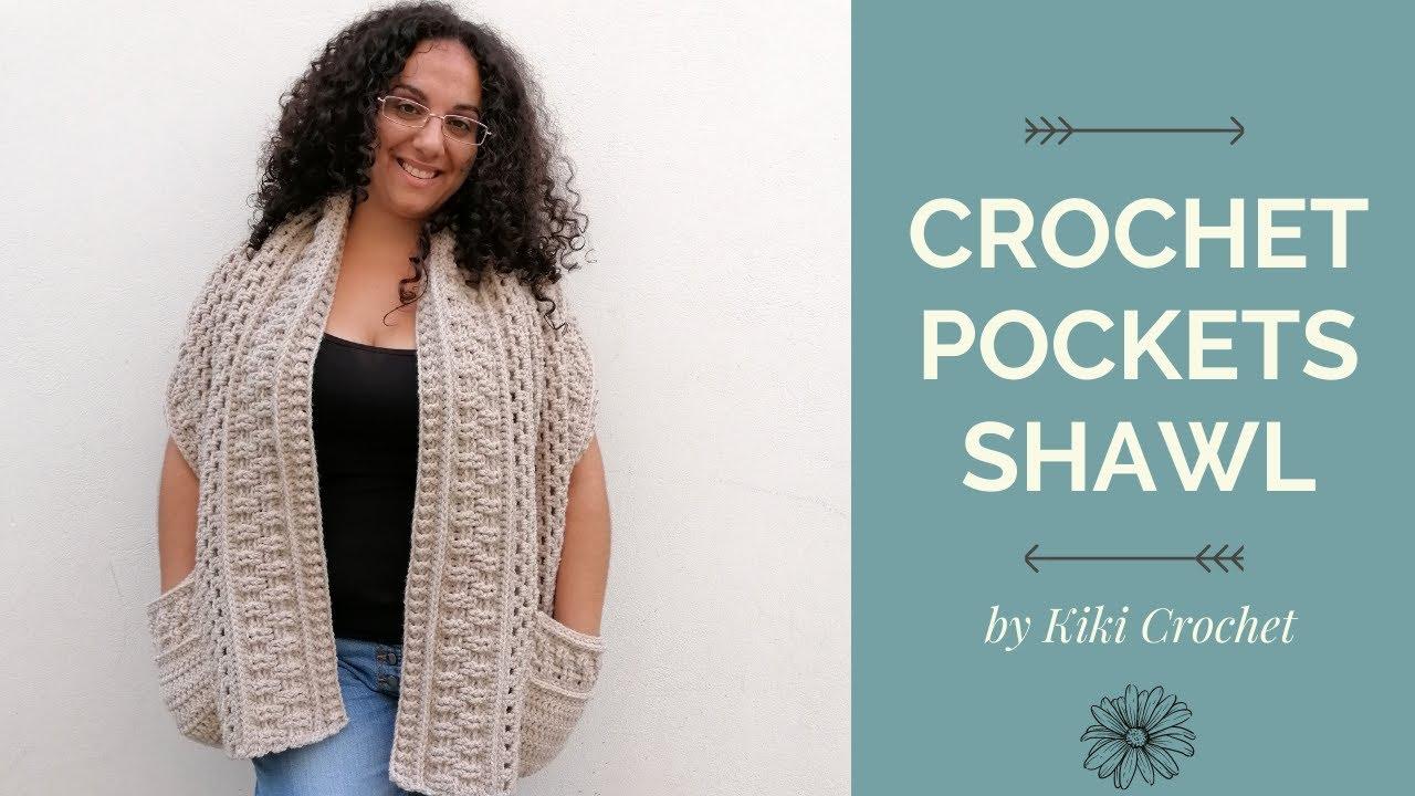 Easy Crochet Pockets Shawl
