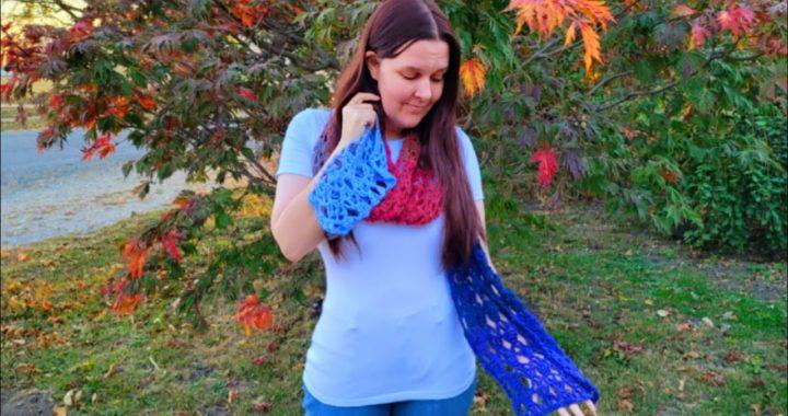 Easy Crochet Scarf/Crochet lacy Super scarf/One Mandala cake /Bag O Day Crochet tutorial 739