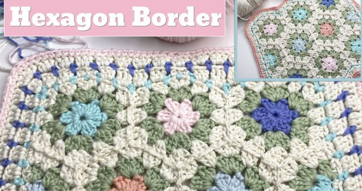 Easy Hexagon Blanket Border with a Straight Edge Option (Crochet)