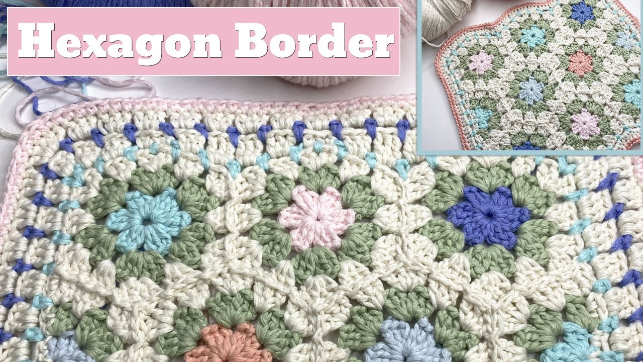 Easy Hexagon Blanket Border with a Straight Edge Option (Crochet)