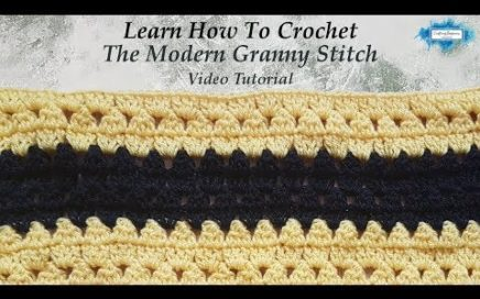 Easy Modern Granny Stripe Stitch Tutorial For Blankets, Scarves, Hats And More by Crafting Happiness