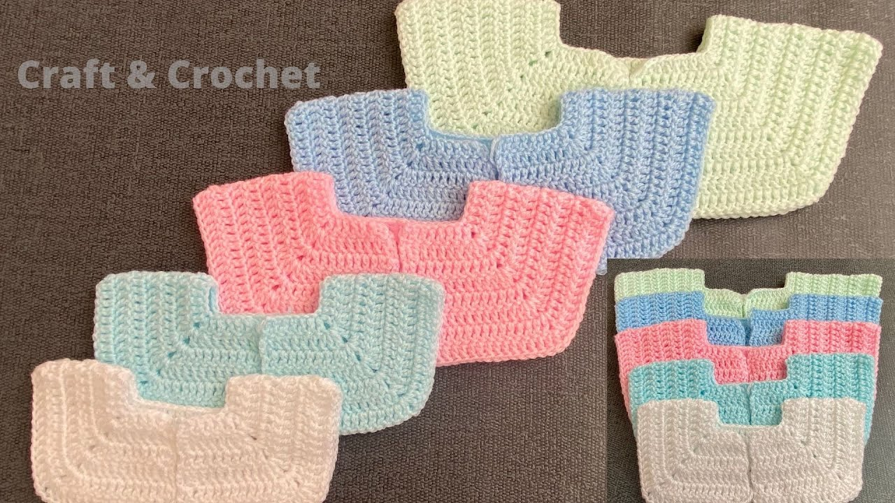 Easy crochet yoke/crochet yoke for cardigan, romper, dress