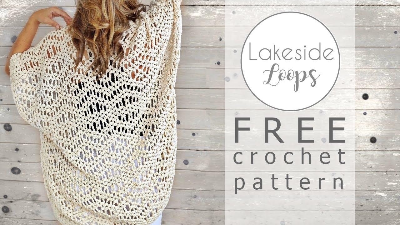 Esma Boho Kimono Cape Cardigan FREE Crochet Pattern Video Tutorial