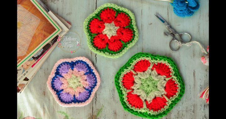 (Flor africana de 6) Crochet, Técnicas y muchos  Tips.