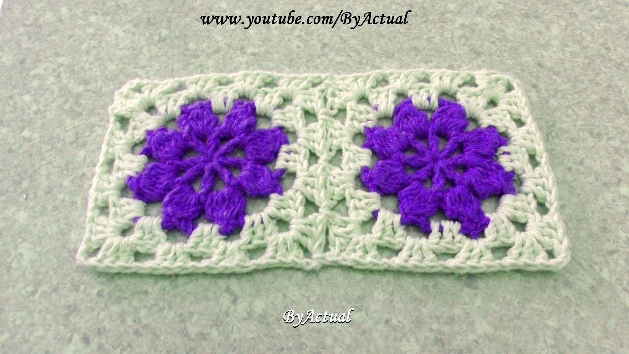 Flor de Crochê Rasteirinha ♡  - #ByActual