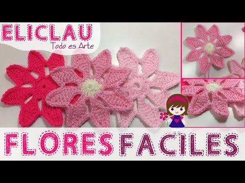 Flor fácil en CROCHET | A super easy flower | EliClau