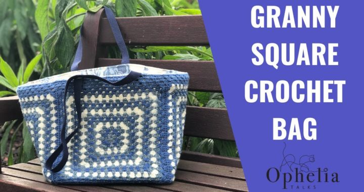 GRANNY SQUARE CROCHET BAG // Crochet Shopping Bag Tutorial
