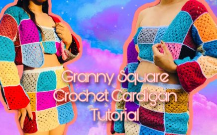 GRANNY SQUARE CROCHET CARDIGAN TUTORIAL | Yarns and Fins Granny Square Series