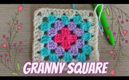 GRANNY SQUARE basico paso a paso y 2 maneras de unirlos/ curso de crochet gratis