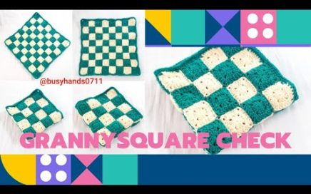 GRANNYSQUARE CHECK🟨🟩🟨🟩 FOR BEGINNER EASY CROCHET #grannysquare #check #tutorial #beginner
