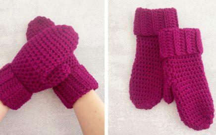 HOW TO CROCHET MITTENS FOR BEGINNERS | Crochet Boysenberry Mittens Tutorial