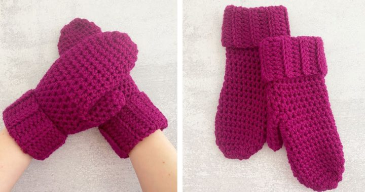 HOW TO CROCHET MITTENS FOR BEGINNERS | Crochet Boysenberry Mittens Tutorial