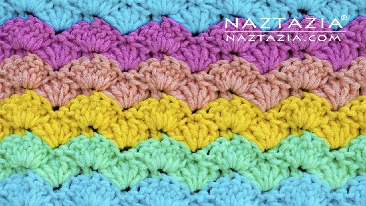 HOW to CROCHET EASY SHELL STITCH - Great for Blankets by Naztazia