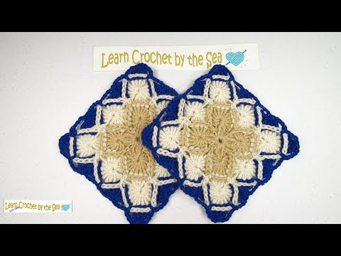 How To Crochet A Bavarian Crochet Stitch Square | FREE Written Pattern!