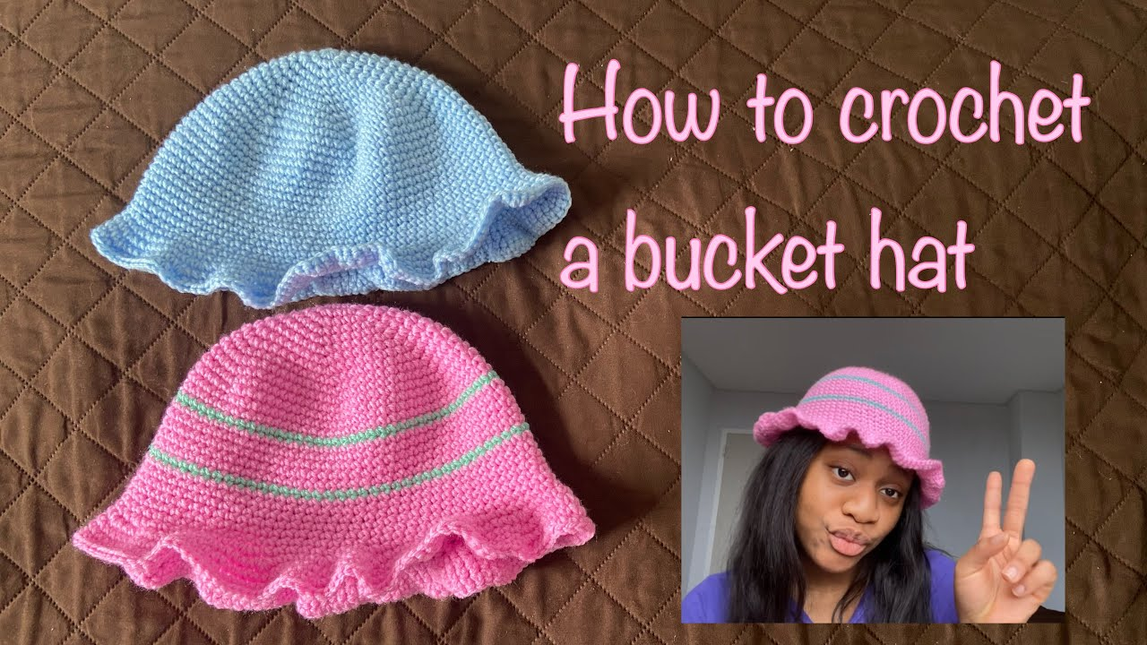 How To Crochet a Bucket Hat/cotton candy inspired bucket hat/crochet bucket hat tutorial