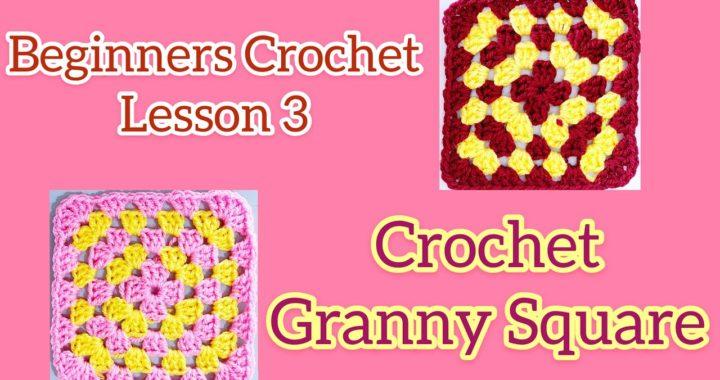 How to Crochet Granny Square Beginners Crochet Lesson 3 Saturday-Sunday