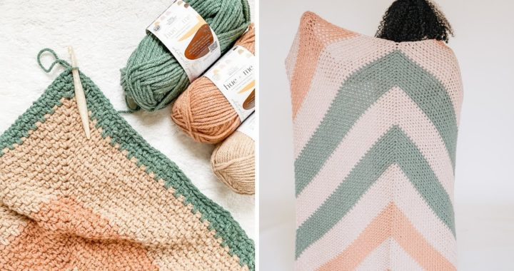 How to Crochet a Blanket with Chunky Yarn | FREE PATTERN + TUTORIAL [Bradley Afghan]