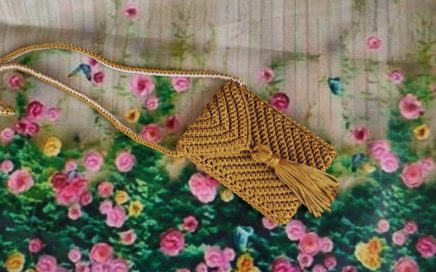 How to Crochet hand bag 😍 a crocheted phone bag