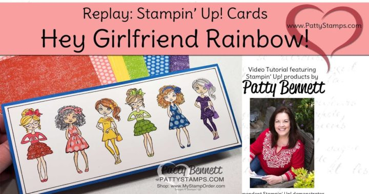 How to Make Rainbow Slimline Girlfriend cards with Paper Piecing