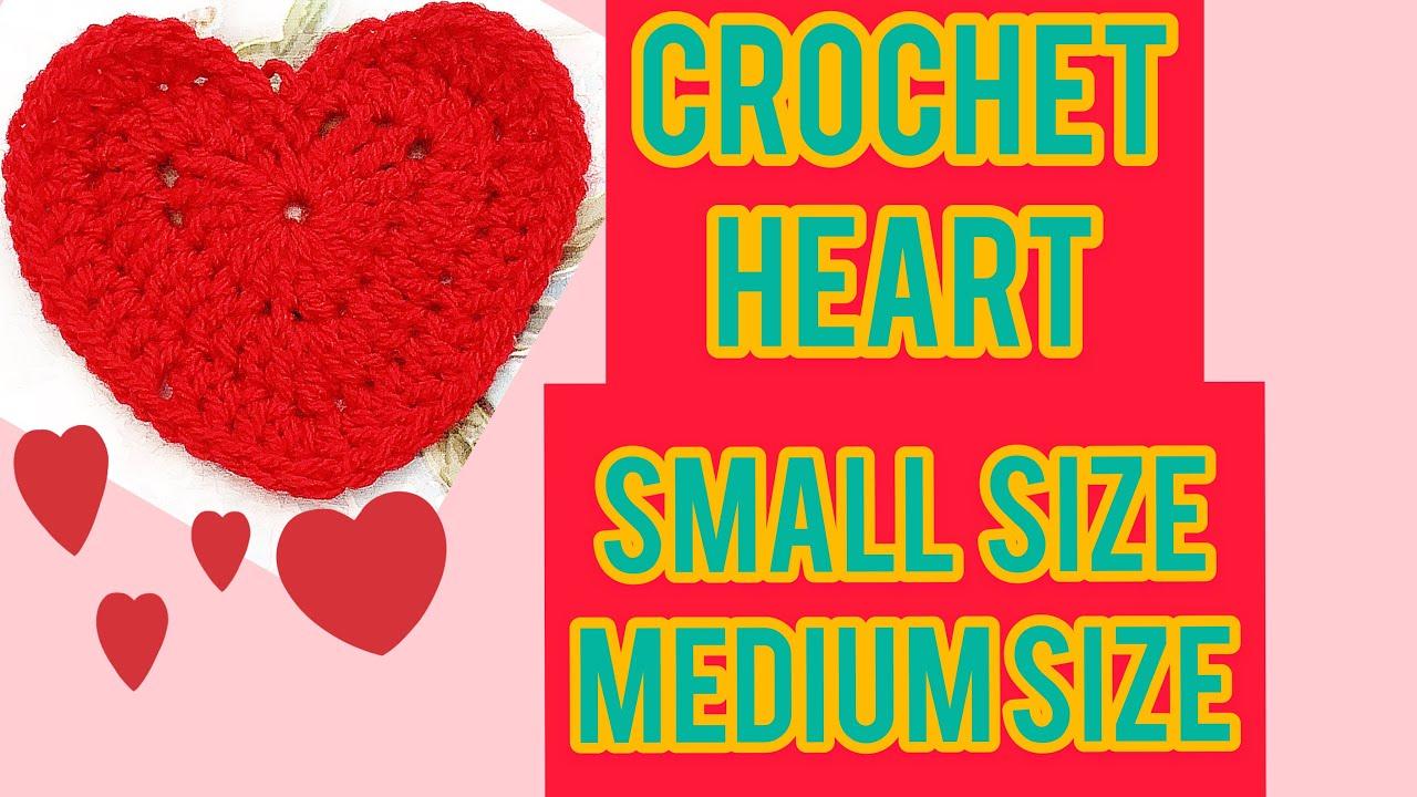 How to crochet heart shape appliqué beginners friendly