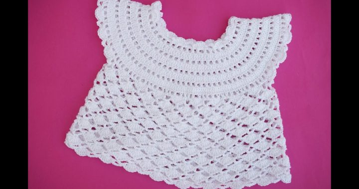 How to make a simple and easy crochet girl's t-shirt for summer