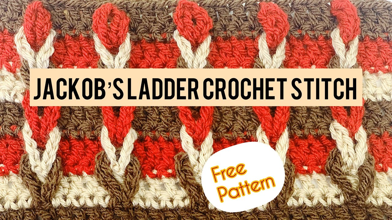 Jackob's Ladder Stitch Crochet Tutorial for Beginners in English