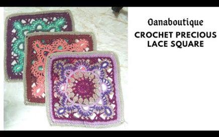 Lace square crochet PRECIUOS by oanaboutique.com