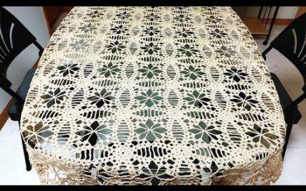 #LasMaravillasdelCrochet #ganchillo Motivos a Crochet para Mantel, Centro ó Camino de Mesa