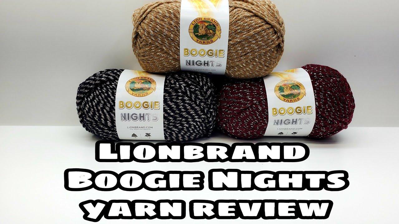 Lion brand Yarn   Boogie Nights Yarn Reviews Crochet   Bag O Day Crochet