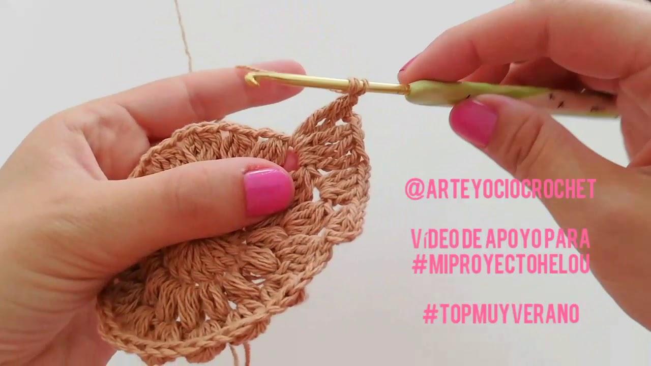 Mi proyecto Helou - vídeo de apoyo - Granny Square Top Muy Verano