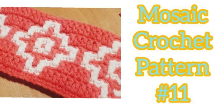 Overlay Mosaic Crochet Pattern #11 - Multiple of 12 + 4 - Easy Beginner Friendly Crochet Tutorial