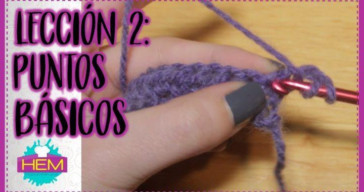 PUNTOS BÁSICOS a CROCHET (Leccion 2) 🔹️ Crochet para PRINCIPIANTES #002
